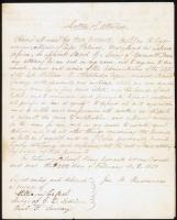 Letter of Attorney from John B. Russwurm to Jacob G. Loving, Liberia, 1851