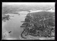 Aerial view of Casco Bay and the Portland Peninsula, ca. 1930