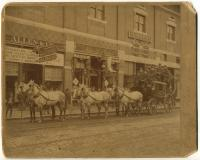 Storefronts on Lisbon Street, Lewiston, ca. 1890