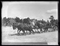 Hall house move, Pine Point, 1924