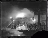 Custom House Wharf fire, Portland, 1936