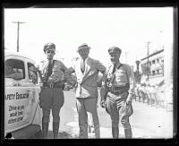 State Police Safety Education car and officers, 1936