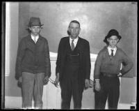 Portland youths under arrest, New Gloucester, 1936
