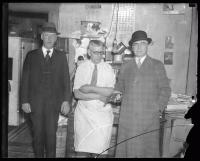 George W. Catlin and two detectives, Portland, ca. 1935