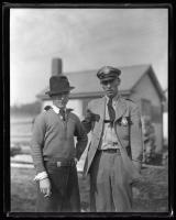Arthur Butts with State Police, Upper Gloucester, 1936