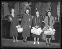 Women with food baskets, Portland, ca. 1934