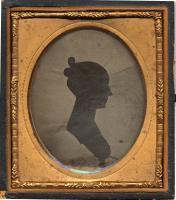Silhouette of an unidentified woman, ca. 1855