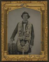 Man wearing Masonic regalia, ca. 1860