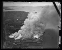 Fire on Hobson's Wharf, Portland, 1934