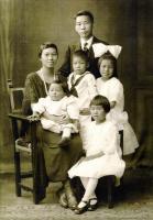 Quoy Wong family, Bangor, 1922
