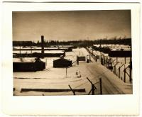 POW stockades with buildings at Camp Houlton Air Base, Houlton, ca. 1945