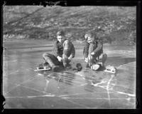 Stephen Morredian and Roy Simmonds skate, Portland, 1936
