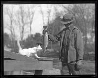 Albert Plummer at Raymond State Fish Hatchery, 1936