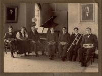Ricker Classical Institute music room, Houlton, ca. 1901