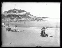 Beach goers, York Beach, ca. 1924