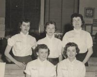 Union candlepin bowling women's league, Biddeford, ca. 1955