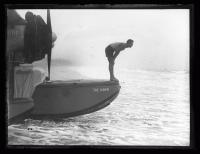 "Crew member of the ""Dawn,"" Old Orchard Beach, 1927"
