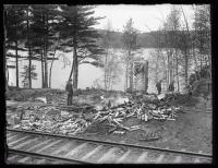 Scene from the Harry A. Kirby murder case, Winthrop, 1925