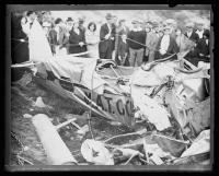 Airplane crash, ca. 1935