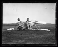 Biplane accident, ca. 1925