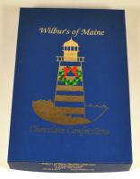 Wilbur's of Maine chocolate box, Freeport, 2001