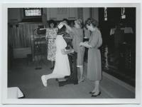 Capping ceremony at Mercy Hospital School of Nursing, Portland, ca. 1980