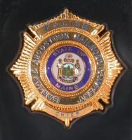 Bangor and Aroostook Railroad's Police Chief badge, ca. 1980
