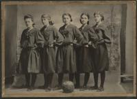 Millinocket High School, Girls Basketball Team, Millinocket, 1906