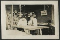 Draftsmen working in the engineer's office, Millinocket, ca. 1910