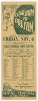 College football games at Boston excursion flyer, 1931