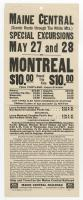 Montreal excursion flyer, 1927