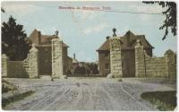 """Entrance to Stratglass Park,"" Rumford, 1912"