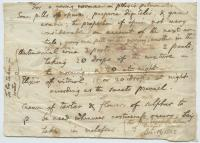 Medicinal recipe for Phthisis Pulmonalis, Hallowell, 1802