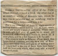 Recipe for domestic beer, Portland, ca. 1900