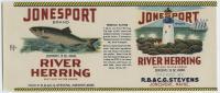 Jonesport Brand River Herring, ca. 1940