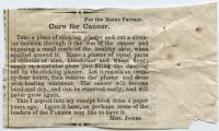 Cure for cancer, ca. 1880