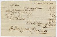 Receipt from Henry Knox to Thomas Dodds, December 12, 1788