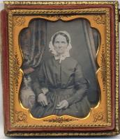 Sixth plate daguerreotype of unidentified woman, Portland, ca. 1848