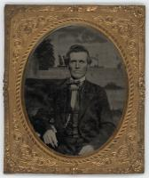 Tintype portrait of John Chase, Unity, ca. 1860