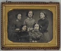Five young women, ca. 1855