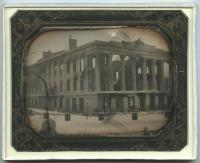 Ruins of the Merchants' Exchange Building, Portland, 1854