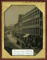 Mussey's Row, Middle Street, Portland, ca. 1856