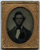 Portrait of a bearded young man, Portland, 1860