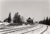 Bangor and Aroostook Railroad station, Oakfield, ca. 1950