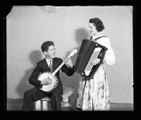 Accordion and banjo players, ca. 1940
