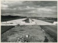 Decking over Saco River Bridge on Maine Turnpike, Saco, 1947