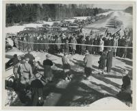 Opening of the first section of the Maine Turnpike, Portland, 1947