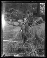 Hunter with her prize, ca. 1935