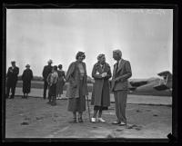 Ruth Nichols, Clarence Chamberlain, and unidentified pilot, ca. 1935