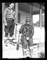 Governor Percival P. Baxter with salmon, ca. 1922